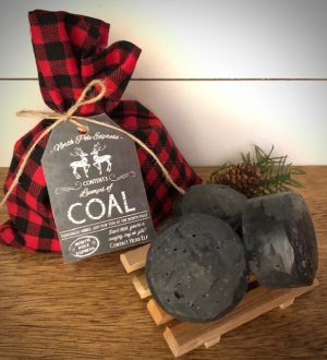 Coal bag, soap and pallet